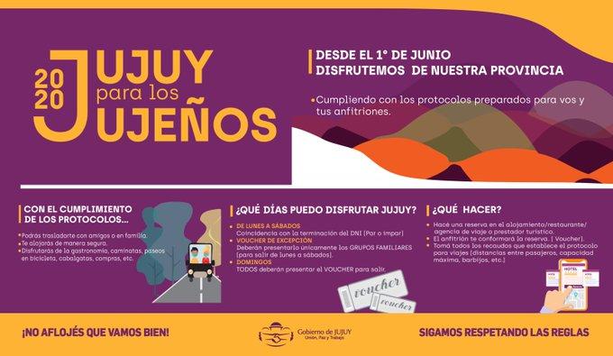 Jujuy realizará la primera experiencia de apertura al turismo