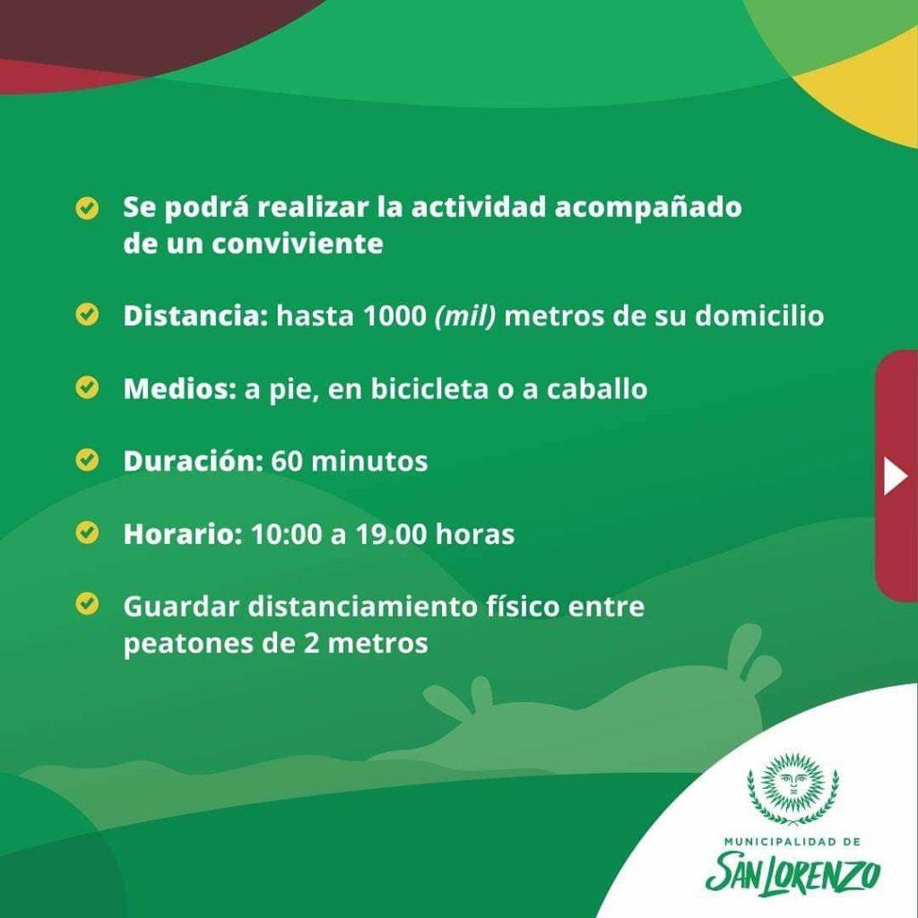 San Lorenzo flexibiliza la cuarentena