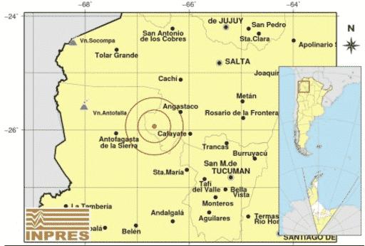 Un fuerte temblor con epicentro en Cafayate