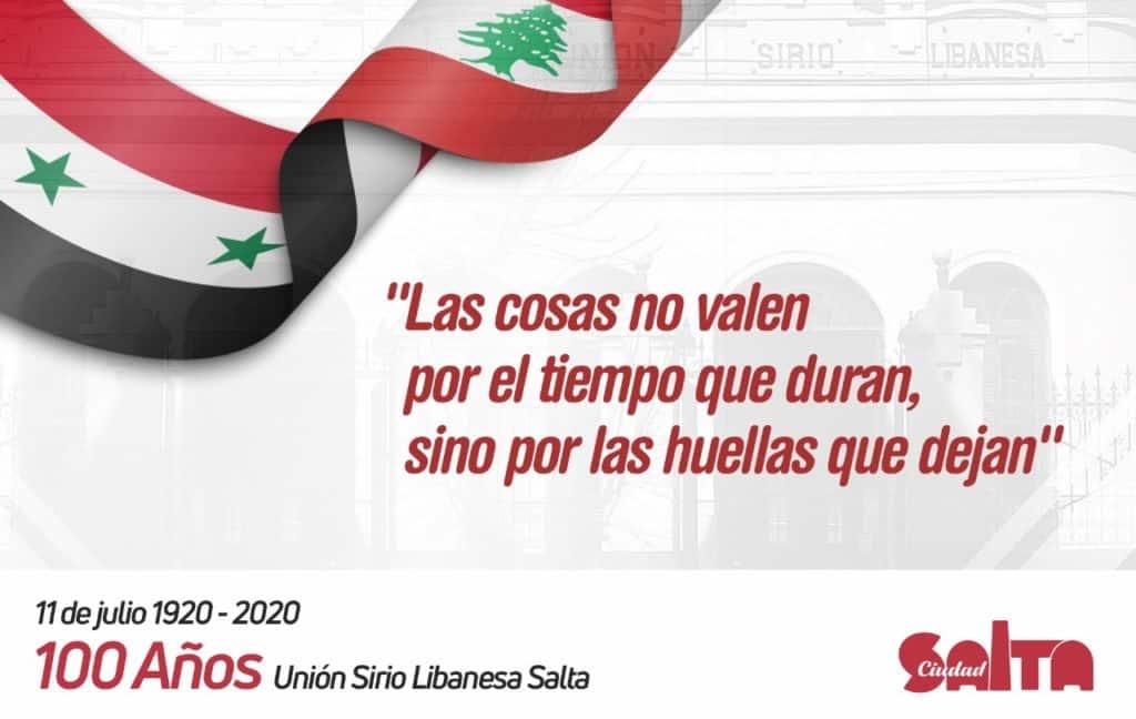 Se celebró el centenario de la Unión Sirio Libanesa