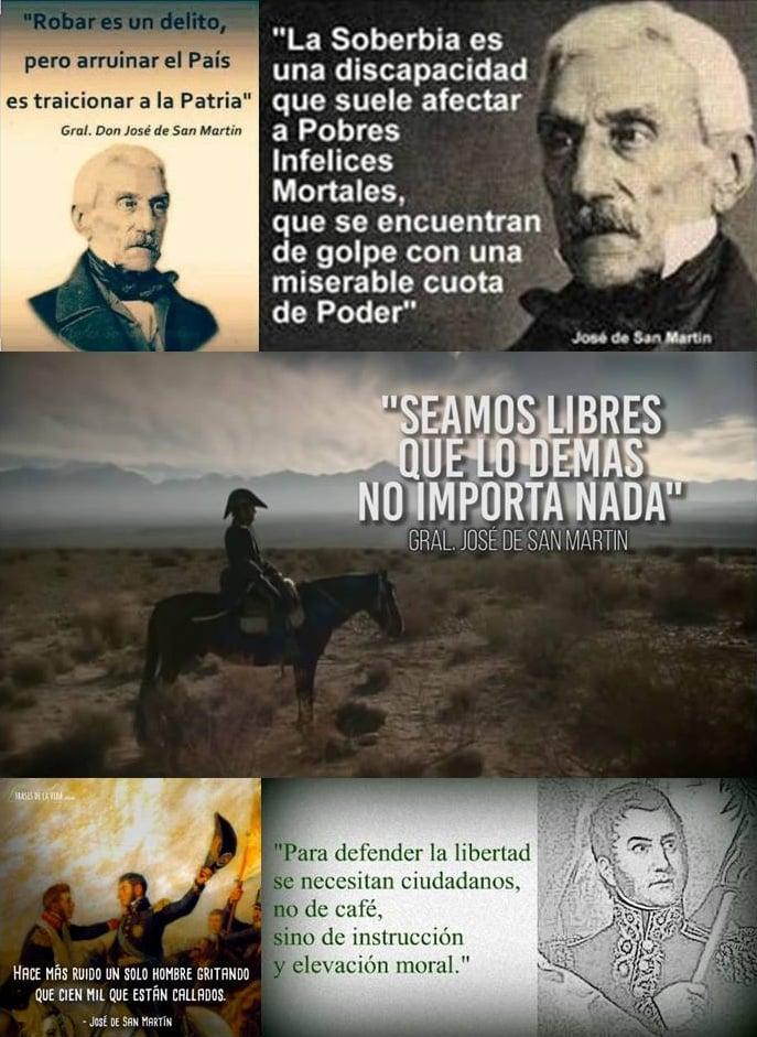 Muy sencillo acto en recuerdo del fallecimiento del Gral. San Martín