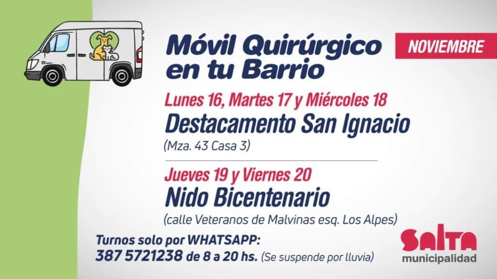 Móvil Quirúrgico en San Ignacio y Bicentenario