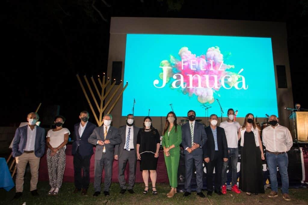 La intendenta acompañó la celebración de Janucá