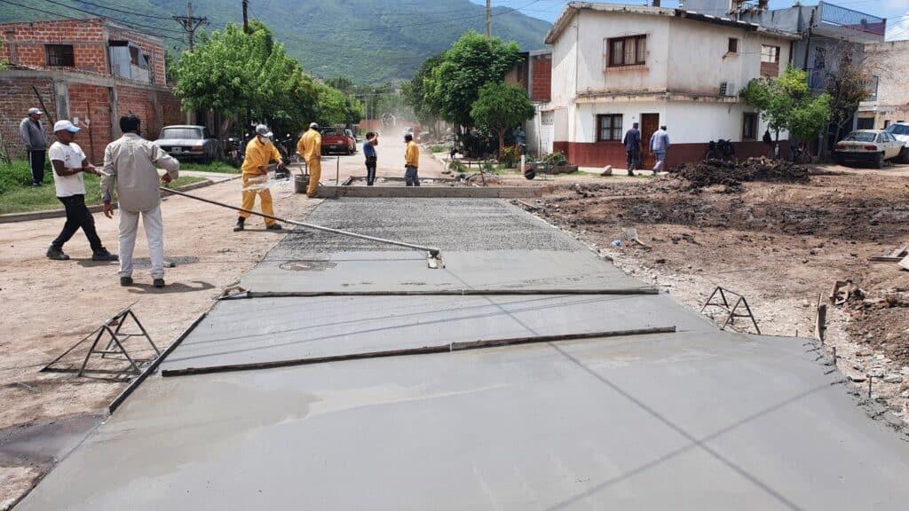 Último tramo de obras en Villa Mitre y Ameghino al 200