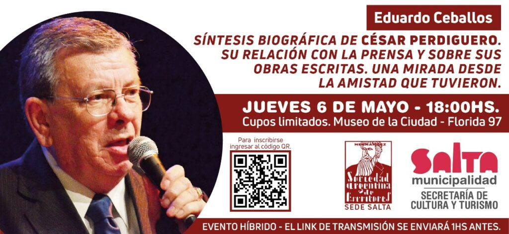 Salta celebra al César Perdiguero a 100 años de su nacimiento