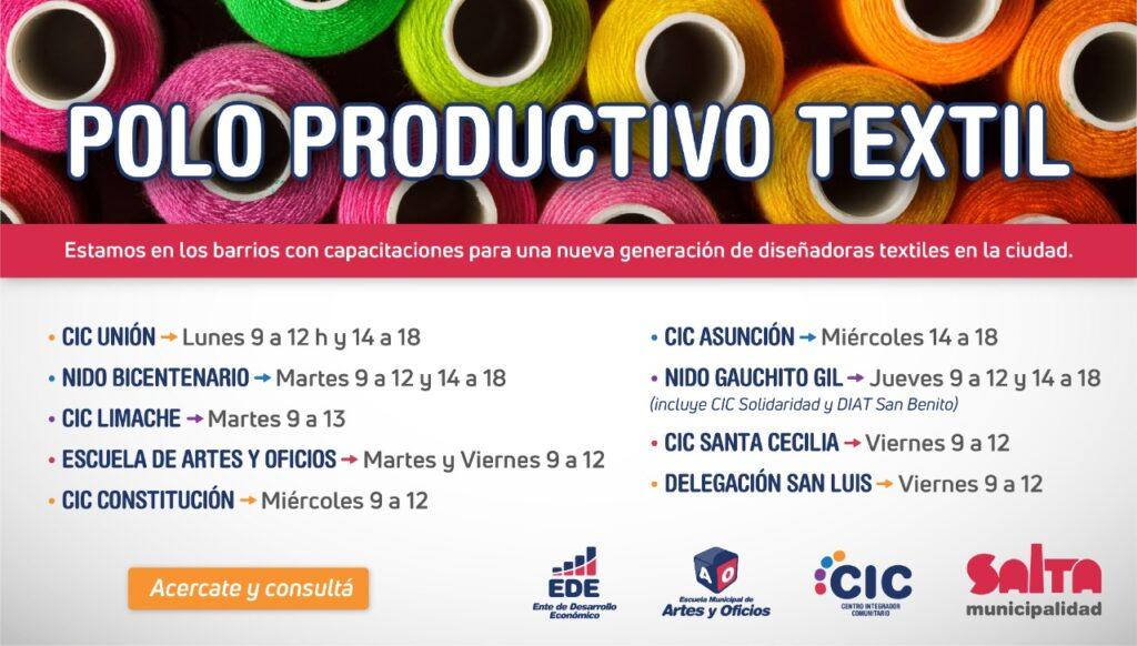 San Luis: esta semana empieza el curso de Diseño y Producción Textil